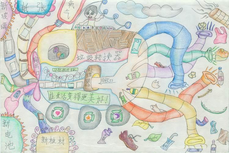 中国儿童低碳倡想:垃圾分类图片
