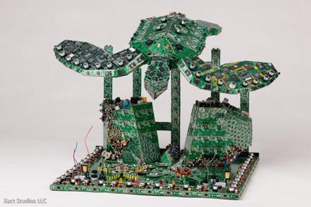 环保创意新概念,废旧电路板现生机