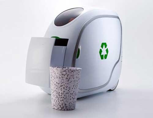 天天洁--了解环保--能造垃圾桶的环保废纸收集机--洁
